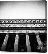 Black And White Chicago Union Station Canvas Print
