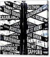 Black And White Directions  Canvas Print