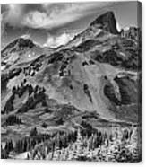 Black And White Garibaldi Black Tusk Canvas Print