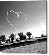 Black And White Heart Canvas Print