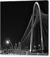 Black And White Hunt-bridge-dallas Canvas Print