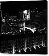 Black And White In Vegas Canvas Print