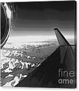 Jet Pop Art Plane Black And White  Canvas Print