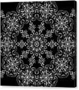 Black And White Medallion 11 Canvas Print