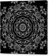 Black And White Medallion 2 Canvas Print