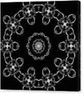 Black And White Medallion 3 Canvas Print