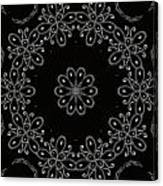 Black And White Medallion 4 Canvas Print