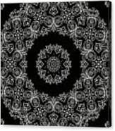 Black And White Medallion 6 Canvas Print
