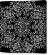 Black And White Medallion 7 Canvas Print