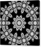 Black And White Medallion 8 Canvas Print