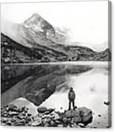 Black And White Mountain Landscape  Canvas Print