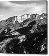 Black And White Mountains Canvas Print