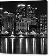 Black And White Night In Pa Canvas Print