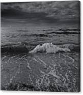 Black And White Ocean Wave 2014 Canvas Print