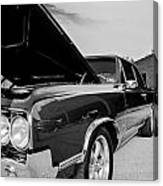 Black And White Olds Canvas Print
