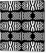 Pattern Black White Art No.302. Canvas Print