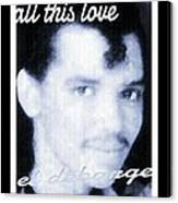Black And White  Photo Of El Debarge Canvas Print