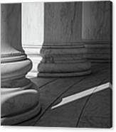 Black And White Pillars Canvas Print