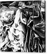 Black And White Ruffles Canvas Print