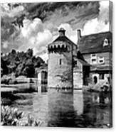 Scotney Castle In Mono Canvas Print