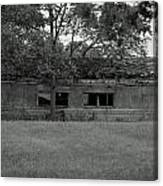 Black And White Shed Canvas Print