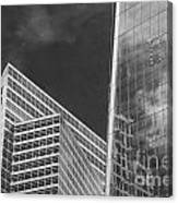 Black And White Skyscrapers Canvas Print