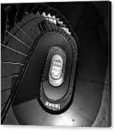 Black And White Spiral Staircaise Canvas Print
