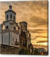 Black And White Sunrise Over Mission Canvas Print