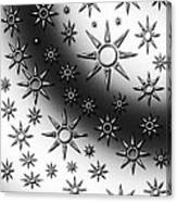 Black And White Suns Canvas Print