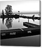 Black And White Sunset Canvas Print