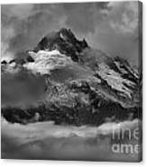 Black And White Tantalus Storms Canvas Print