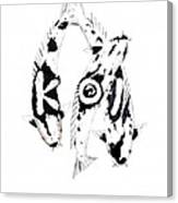 Black And White Trio Of Koi Canvas Print