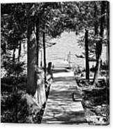 Black And White Walkway Canvas Print