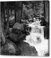 Black And White Waterfall Canvas Print