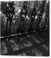 Black And White Wrought-iron Porch Canvas Print