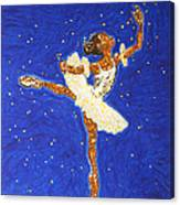 Black Ballerina Canvas Print
