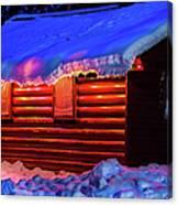 Black Bear Cabin Canvas Print