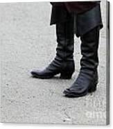 Black Boots Canvas Print
