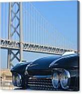 Black Cadillac In San Francisco Canvas Print