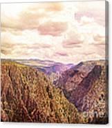Black Canyon Colorado Canvas Print