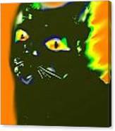 Black Cat 3 Canvas Print