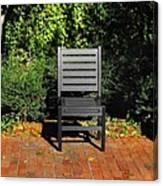 Black Chair Trio Canvas Print