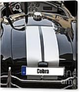 Black Cn Cobra Classic Car Canvas Print