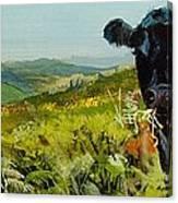 Black Cow Dartmoor Canvas Print