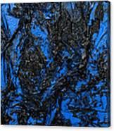 Black Cracks With Blue Canvas Print