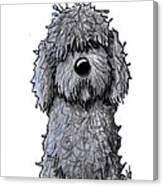 Black Doodle Dog Canvas Print