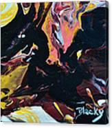 Black Dragon Canvas Print