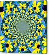 Black Eyed Susan Kaleidoscope Canvas Print