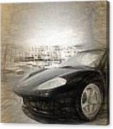 Black Ferrari Canvas Print