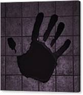 Black Hand Pink Canvas Print